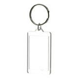 Picture Frame Split-Ring-Keychain Clear Color  #031