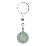 Retractable Split-Ring-Keychain Gray & Silver-Tone Colored #039