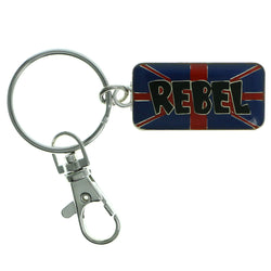 Rebel Split-Ring-Keychain Blue & Red Colored #110
