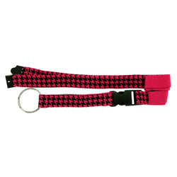 Pink & Black Colored Fabric Lanyard-Keychain #118