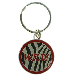 WILD! Zebra Print Split-Ring-Keychain Red & Black Colored #132