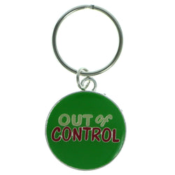 Out Of Control Split-Ring-Keychain Green & Multi Colored #135