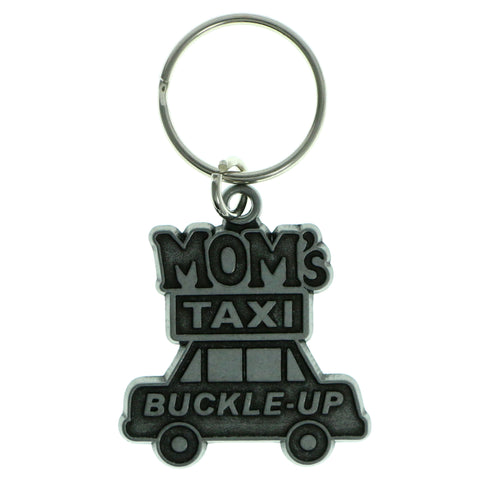 Car Mom's Taxi Split-Ring-Keychain Silver-Tone Color  #138