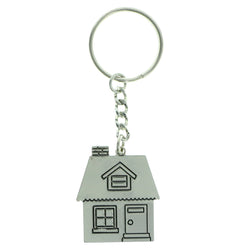 House Split-Ring-Keychain Silver-Tone Color  #148