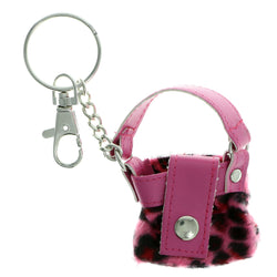 Hand Bag Split-Ring-Keychain Pink & Black Colored #164
