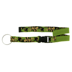 Camouflage Lanyard-Keychain Green & White Colored #175