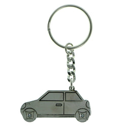 Car Split-Ring-Keychain Silver-Tone Color  #192