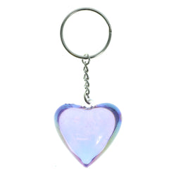 AB Finish Heart Split-Ring-Keychain Purple Color  #027