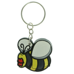 Bumble Bee Split-Ring-Keychain Black & Yellow Colored #029