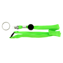 Green & Black Colored Fabric Lanyard-Keychain #220