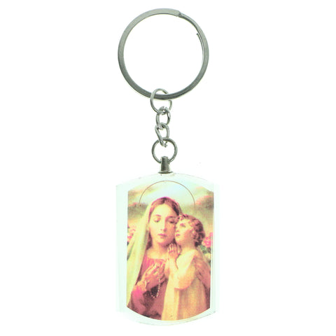 Clear & Multi Colored Acrylic Religious-Keychain #224