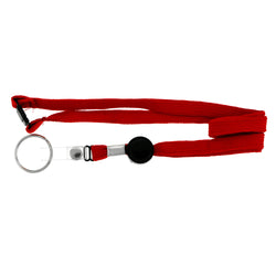 Red & Black Colored Fabric Lanyard-Keychain #228