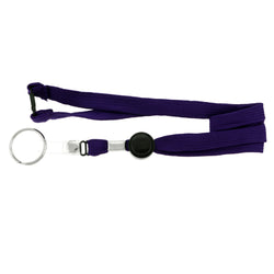 Purple & Black Colored Fabric Lanyard-Keychain #229