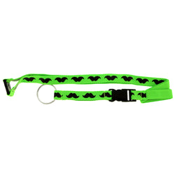 Mustaches Lanyard-Keychain Green & Black Colored #245