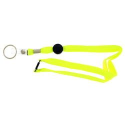 Yellow & Black Colored Fabric Lanyard-Keychain #238