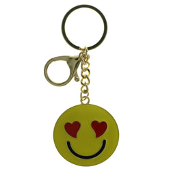 Love Face Emoji-Keychain Yellow & Red Colored #273