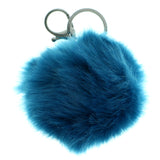 Furball PomPom Fluffy Split-Ring-Keychain Blue Color  #284
