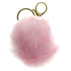 Furball PomPom Fluffy Split-Ring-Keychain Pink Color  #286