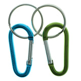 Carabiner Set Of Two Split-Ring-Keychain Blue & Green Colored #298