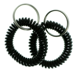 Set Of Two Coil-Bracelet-Keychain Black Color  #306