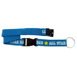 All Star Dad Stars Lanyard-Keychain Blue & Yellow Colored #22