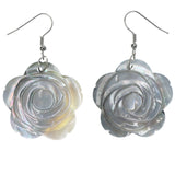 Rose Dangle-Earrings White Color  #LQE1214