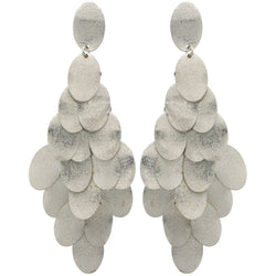 Silver-Tone Metal Chandelier-Earrings #LQE1246