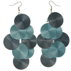 Multitonal Chandelier-Earrings Blue Color  #LQE1248