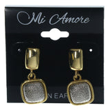 Gold-Tone & Silver-Tone Colored Metal Dangle-Earrings #LQE1271