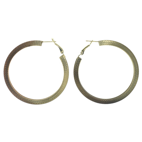 Gold-Tone Metal Dangle-Earrings #LQE1520