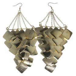 Gold-Tone Metal Chandelier-Earrings #LQE1582