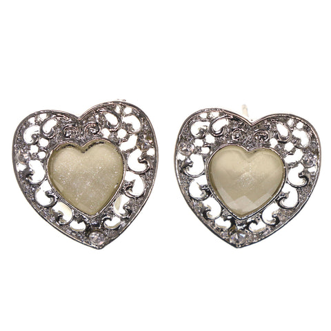 Colorful  Heart Stud-Earrings #LQE2777
