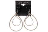 Silver-Tone Metal Dangle-Earrings #LQE2936