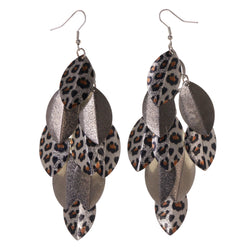 Colorful  Cheetah Print Chandelier-Earrings #LQE3074