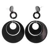 Black Acrylic Drop-Dangle-Earrings #LQE3650