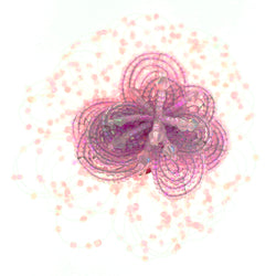 Flower Brooch-Pin With Bead Accents  Pink Color #LQP1490