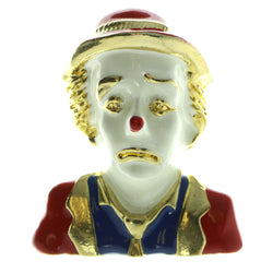 Clown  Brooch Pin Gold-Tone & Multi Colored #LQP151