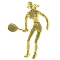 Clowns Brooch-Pin Gold-Tone Color  #LQP324