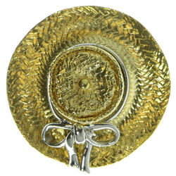 Hat Brooch Pin Gold-Tone & Silver Colored #LQP43