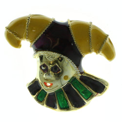 Jester Brooch-Pin Gold-Tone & Multi Colored #LQP580