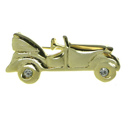 Car Brooch-Pin With Crystal Accents  Gold-Tone Color #LQP749