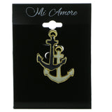 Anchors Brooch-Pin Gold-Tone & Multi Colored #LQP924