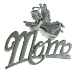 Mom Angel Brooch-Pin Silver-Tone Color  #LQP953