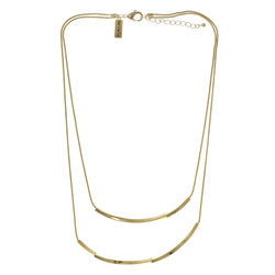 Adjustable Length Layered-Necklace Gold-Tone Color  #3280