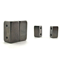 Magnetic Clasp 2 Hole Gunmetal Gray Sets Of 10 MC02