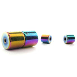 6mm Barrel Magnetic Clasp Set Of 10 Rainbow MC10