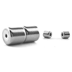 6mm Barrel Magnetic Clasp Set Of 10 Stainless Nickel MC11