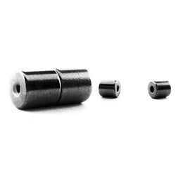 6mm Barrel Magnetic Clasp Set Of 10 Gunmetal MC12