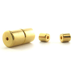 6mm Barrel Magnetic Clasp Set Of 10 Goldtone MC13