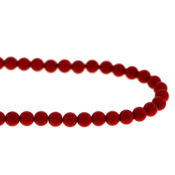 6mm Magnetic Enamel Red Round MEN01
